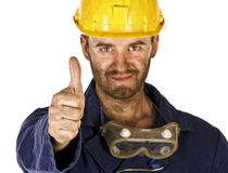 Heavy industry worker trust Royalty Free Stock Images