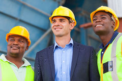 Heavy industry workers Stock Images