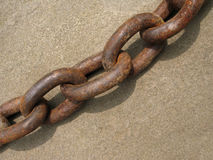 Heavy iron chain. With patina of rust Stock Photo