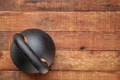 Heavy iron kettlebell - fitness concept stock photos