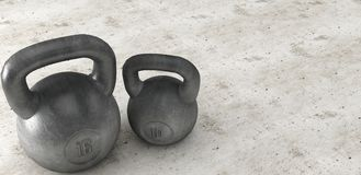Heavy kettle bell isolated on background royalty free stock image