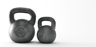 Heavy kettle bell isolated on white background royalty free illustration