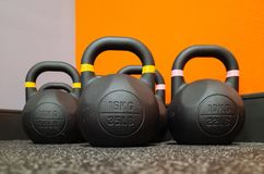 Heavy Kettlebell Workout Equipment stock images
