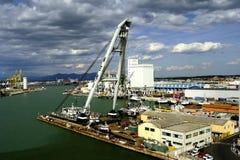 Heavy lift crane in port Royalty Free Stock Photo