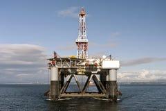"03.08.2014 - The heavy lift vessel Dockwise Vanguard offloading the Semi-Submersible rig ""Ocean Patriot"", outside Edinburgh. Stock Photos"