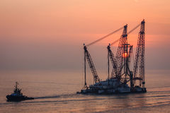 Heavy Lift Vessel. Royalty Free Stock Images