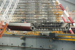 Heavy lifting floating crane royalty free stock photos
