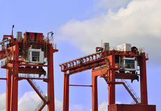 Heavy load cranes Stock Image