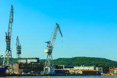 Heavy load dockside cranes Royalty Free Stock Photography