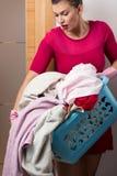 Heavy load of laundry Royalty Free Stock Photography