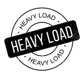 Heavy Load rubber stamp Royalty Free Stock Photo