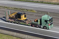 Heavy load truck on the road Stock Images