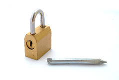 Heavy lock Royalty Free Stock Photography
