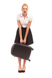 Heavy luggage. Royalty Free Stock Photos