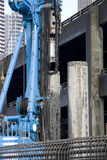Heavy machine at construction site royalty free stock images