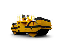 Heavy machine front view Royalty Free Stock Images