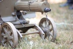 Heavy machine gun. Maxim heavy machine gun in the field Royalty Free Stock Photography