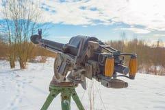 A heavy machine gun of world war II. Royalty Free Stock Photo