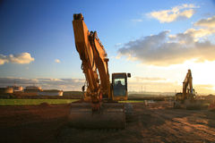 Heavy Machinery. Construction Site with Heavy Machinery Stock Image