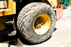 Heavy machinery. A large tire durability Royalty Free Stock Image