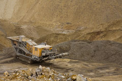 Heavy machinery. In a quarry - stone pit, standing still Royalty Free Stock Photography