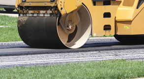 Heavy machinery asphalt roller Stock Image