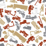 Heavy machinery color seamless pattern Royalty Free Stock Photography