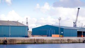 Heavy machinery in docks Stock Photo