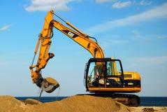 Replenishing the beach stock image