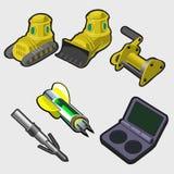 Heavy machinery equipment and startup keys Stock Photos
