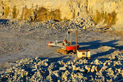 Heavy machinery in a granite quarry Royalty Free Stock Photo