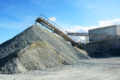 Heavy machinery of gravel production Stock Photography