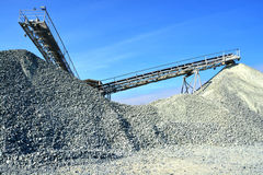 Heavy machinery of gravel production Royalty Free Stock Photos