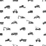 Heavy machinery icons seamless pattern Stock Photos
