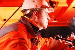 Heavy machinery operator stock image