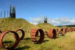 Heavy Machinery Parts - Regeneration of Former Opencast Site Royalty Free Stock Image