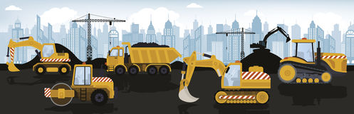 Heavy machinery stock illustration