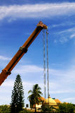 Heavy machinery at work in a commercial engineering site Royalty Free Stock Photography