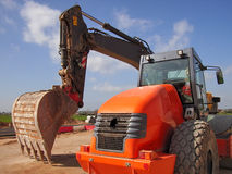 Heavy Machines 2. Heavy vehicles ready to work in a new road construction in Majorca Royalty Free Stock Images