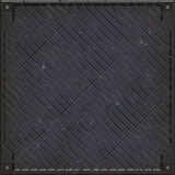 Heavy manhole cover (Seamless texture) Royalty Free Stock Photos