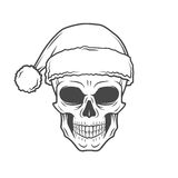 Heavy metal Christmas design. Bad Santa Claus Stock Photos