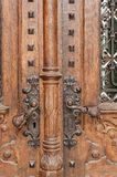Heavy metal door-handle Royalty Free Stock Photo