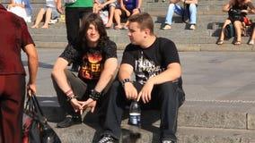 Heavy metal fan stock video