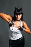Heavy metal girl Stock Photo