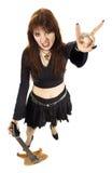Heavy metal girl Stock Image