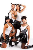 Heavy metal girls Stock Images