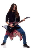 Heavy metal guitarist Royalty Free Stock Image