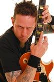 Heavy metal guitarist Stock Images