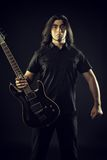 Heavy metal guitarist Royalty Free Stock Images