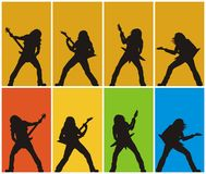 Heavy metal guitarists. Abstract vector illustration of heavy metal guitarists Stock Images